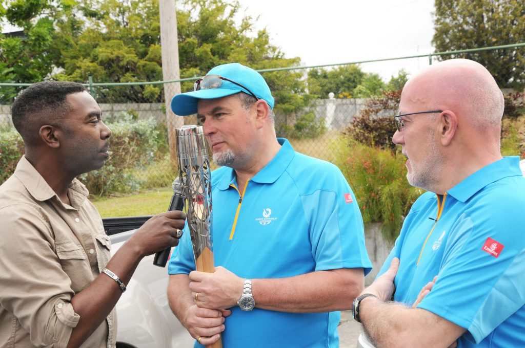 Guardians of the Baton being interviewed by KB Kleen of the 'VOB Road Runner'