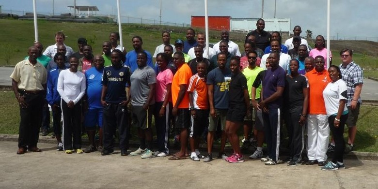 Participants of the first National Coaching Certification Program (NCCP) Level 1 Certification clinic 26 to 28 June
