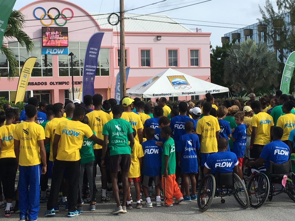 Olympic Day 2016 at Barbados Olympic Association headquarters
