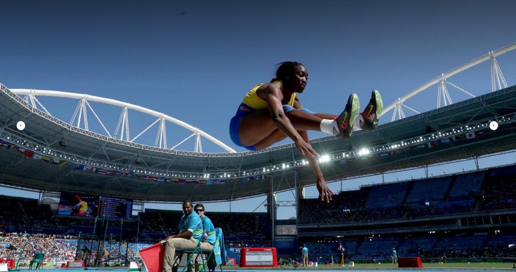 Akela Jones competing in Heptathlon at Rio 2016 for Barbados